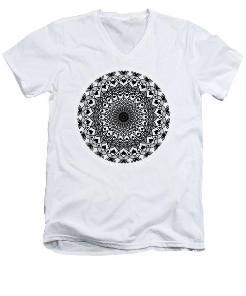 Queen Of Hearts King Of Diamonds Mandala Men's V-Neck T-Shirt