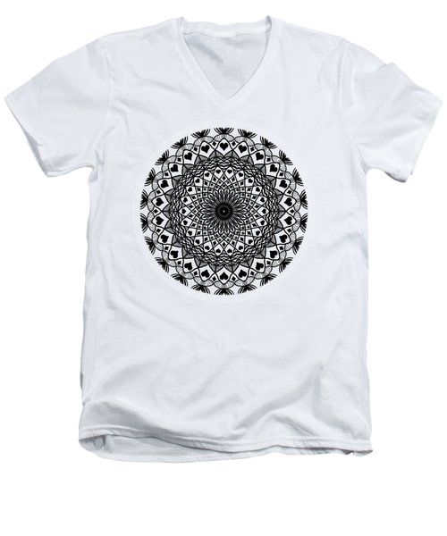 Queen Of Hearts King Of Diamonds Mandala Men's V-Neck T-Shirt