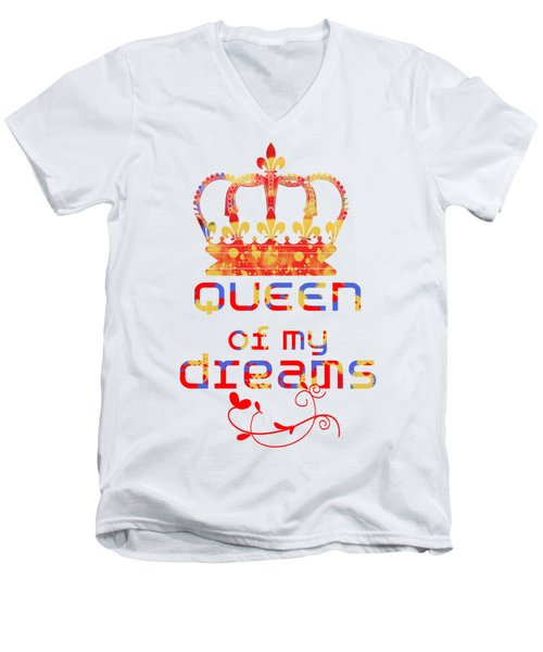 Queen Of My Dreams Men's V-Neck T-Shirt by Pedro Cardona