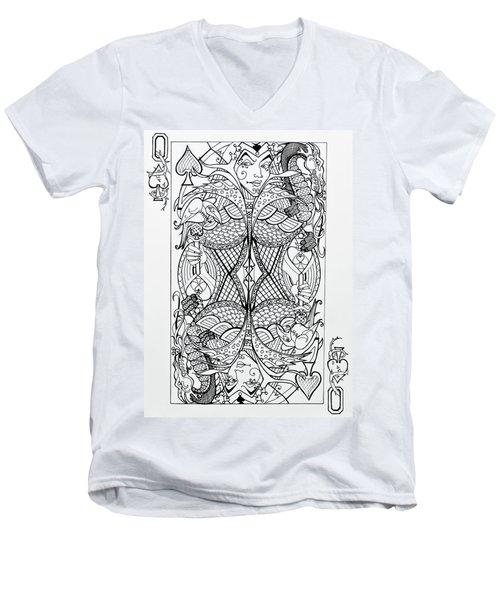 Queen Of Spades  Men's V-Neck T-Shirt
