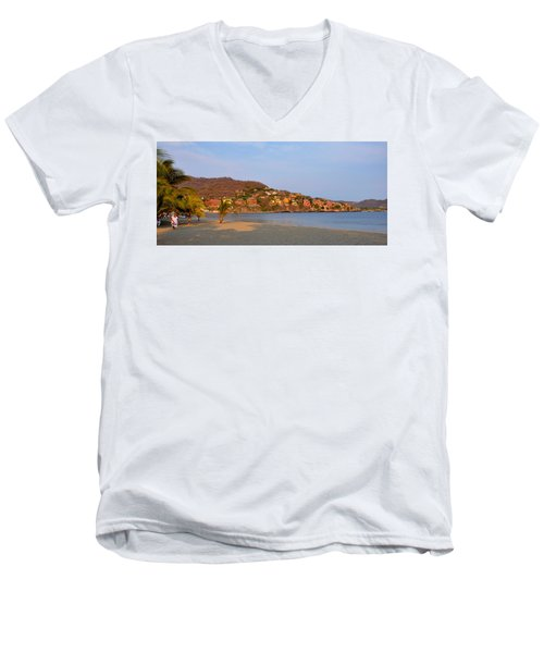 Quiet Afternoon Men's V-Neck T-Shirt by Jim Walls PhotoArtist