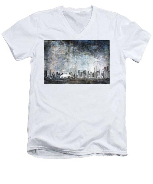 Quiet Sky Men's V-Neck T-Shirt