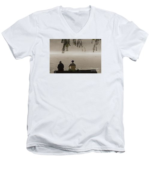 Men's V-Neck T-Shirt featuring the photograph Quiet Time by Inge Riis McDonald