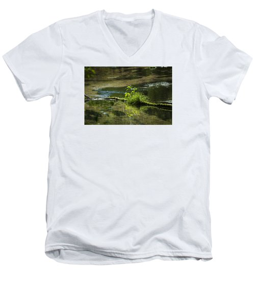 Quiet Trout Stream Men's V-Neck T-Shirt