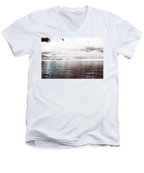 Quiet Waters Men's V-Neck T-Shirt by Keith Elliott