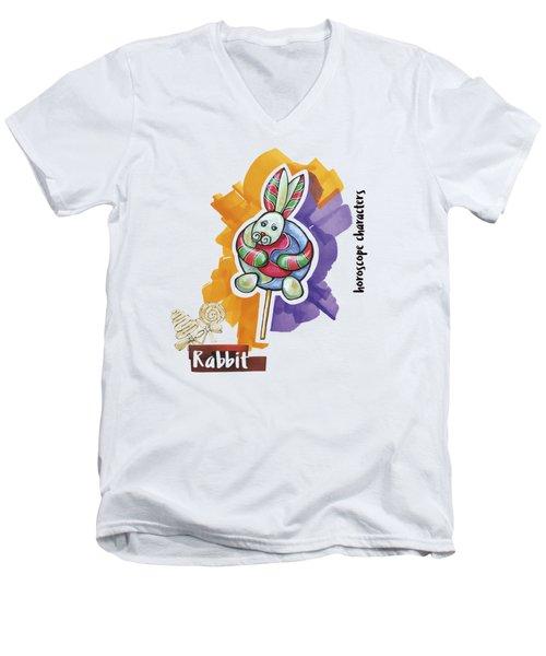Rabbit Horoscope Men's V-Neck T-Shirt