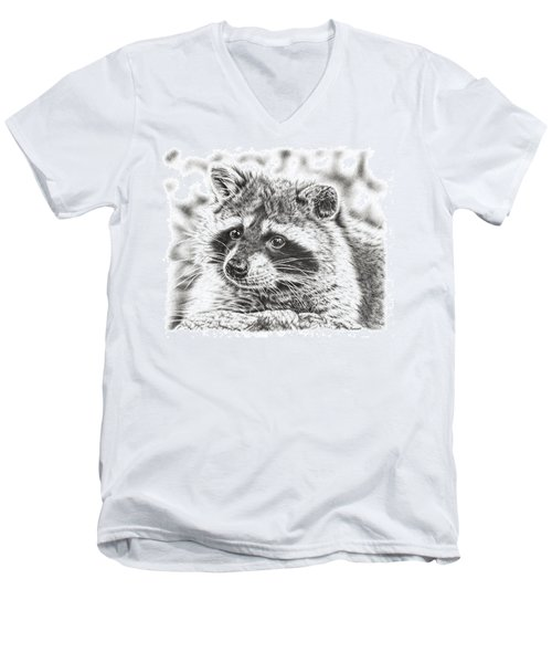 Raccoon Men's V-Neck T-Shirt
