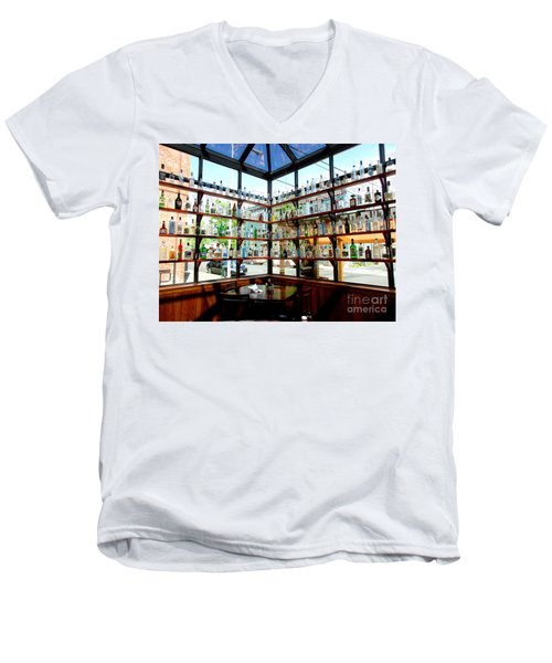 Rack Em Up Men's V-Neck T-Shirt by Marie Neder