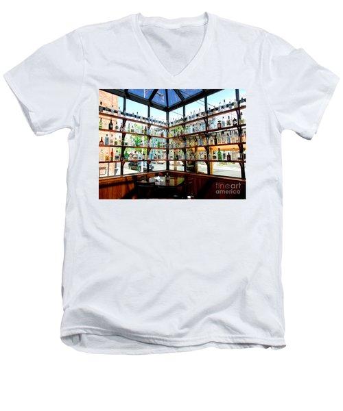 Rack Em Up Men's V-Neck T-Shirt by Marie Neder