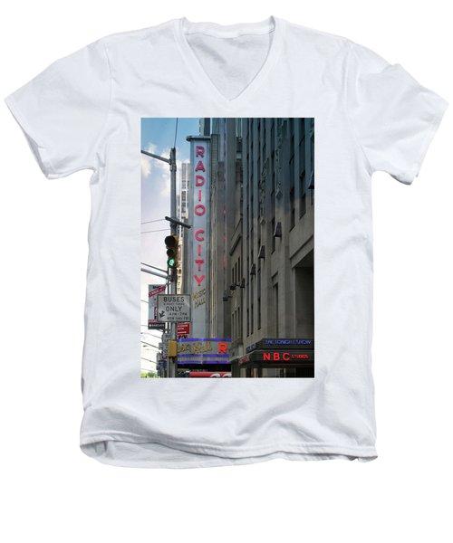 Radio City Music Hall Men's V-Neck T-Shirt
