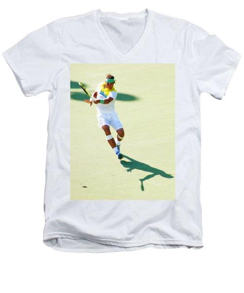 Rafael Nadal Shadow Play Men's V-Neck T-Shirt