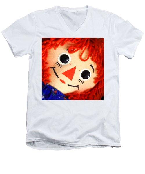 Raggedy Ann Men's V-Neck T-Shirt