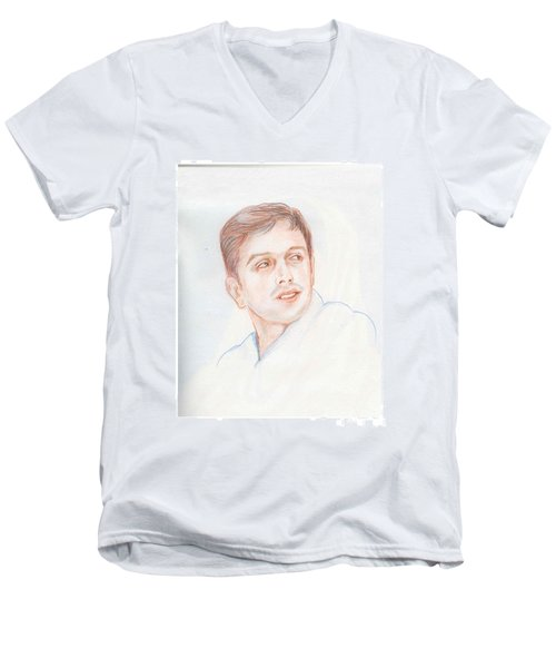 Rahul Dravid  Indian Cricketer Men's V-Neck T-Shirt