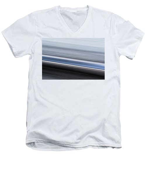 Men's V-Neck T-Shirt featuring the photograph Railway Lines by John Williams