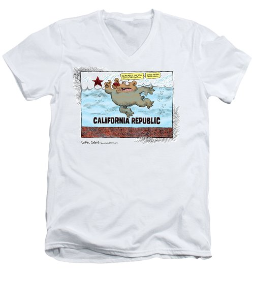 Rain And Drought In California Men's V-Neck T-Shirt