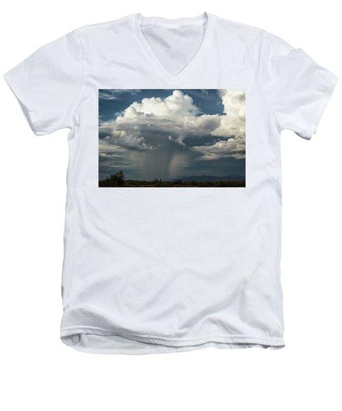 Men's V-Neck T-Shirt featuring the photograph Rain, Beautiful Rain  by Saija Lehtonen