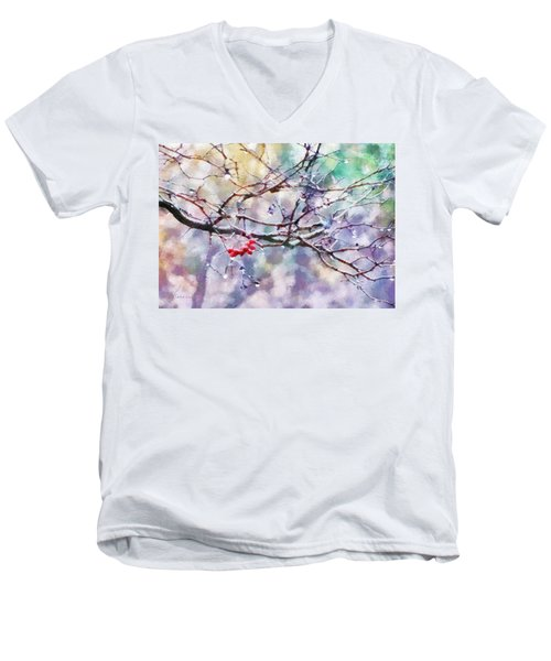Rain Berries Men's V-Neck T-Shirt