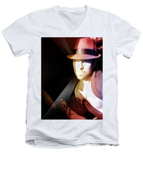 Rain Hat Men's V-Neck T-Shirt