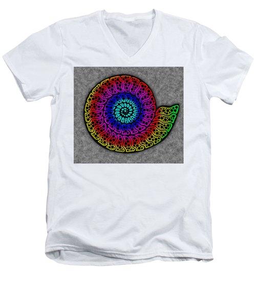 Rainbow Ammonite Men's V-Neck T-Shirt