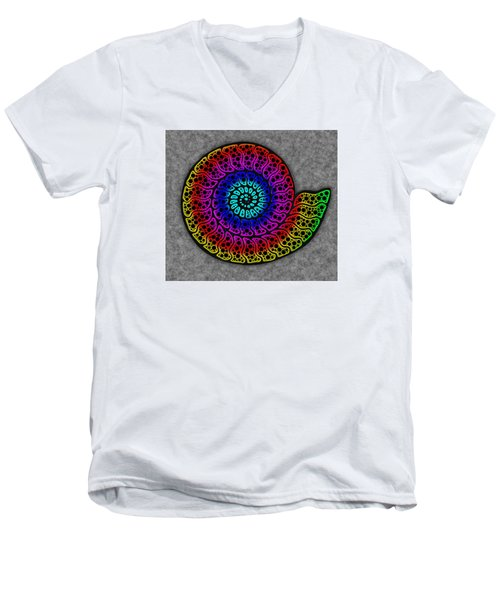 Rainbow Ammonite Men's V-Neck T-Shirt