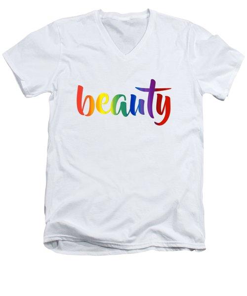 Rainbow Beauty Men's V-Neck T-Shirt