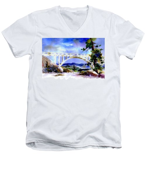 Rainbow Bridge Above Donnerlk#2 Men's V-Neck T-Shirt