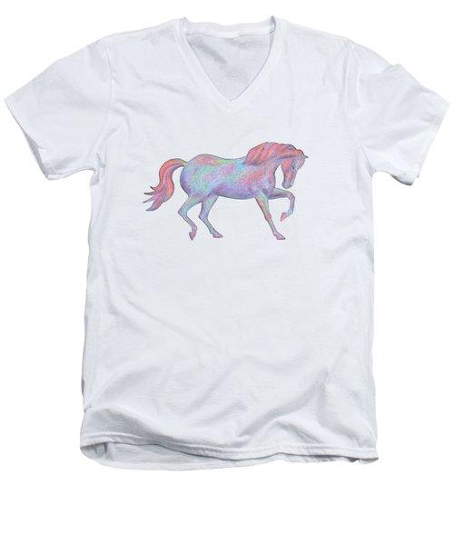 Rainbow Pony II Men's V-Neck T-Shirt