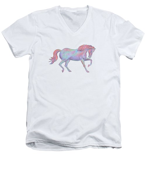 Rainbow Pony II Men's V-Neck T-Shirt