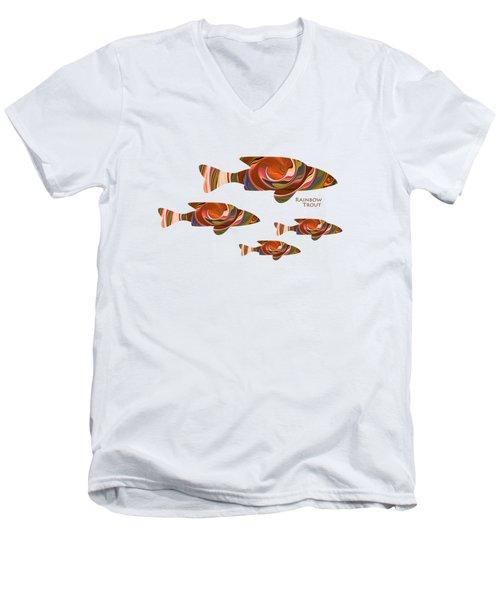 Rainbow Trout Men's V-Neck T-Shirt