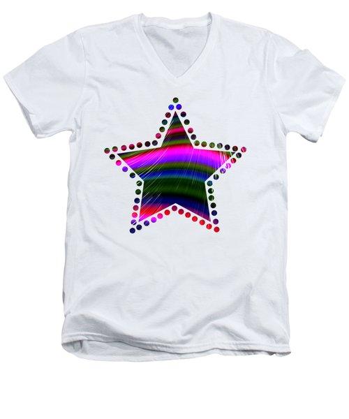 Rainbow Waves Men's V-Neck T-Shirt