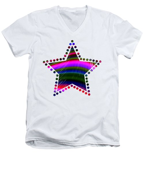 Rainbow Waves Men's V-Neck T-Shirt