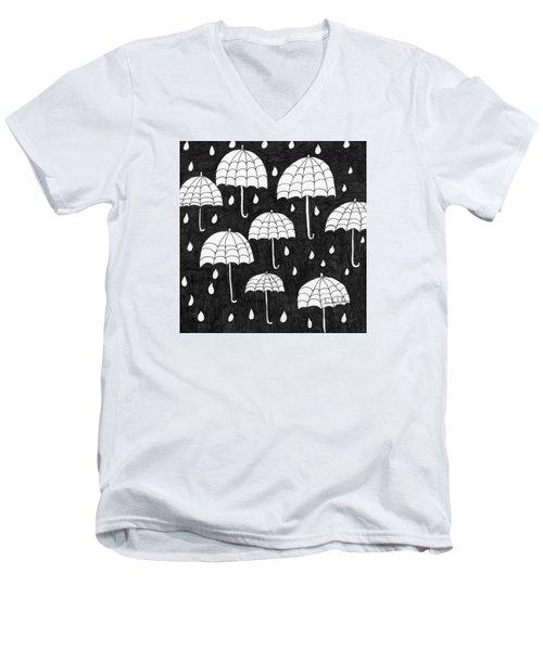 Raindrops Men's V-Neck T-Shirt by Lou Belcher