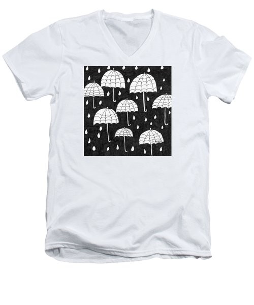 Raindrops Men's V-Neck T-Shirt