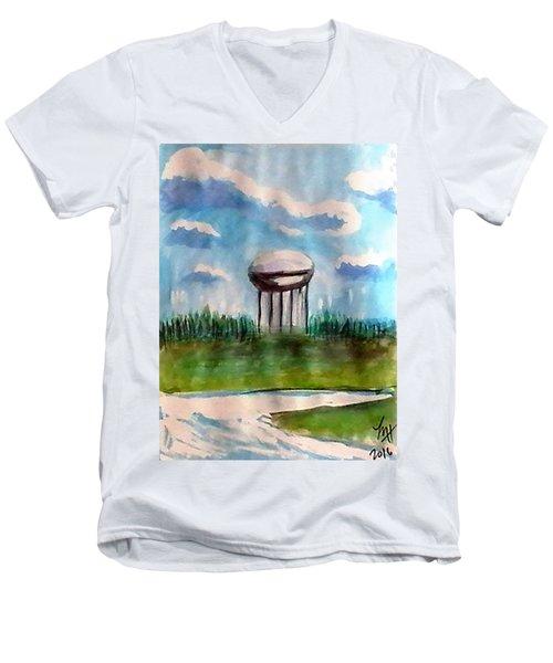 Raines Road Watertower Men's V-Neck T-Shirt by Loretta Nash