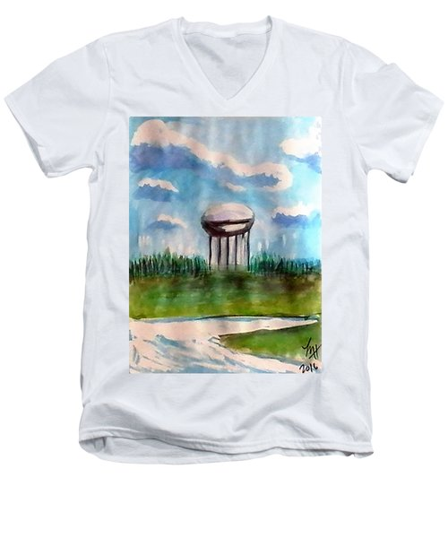 Raines Road Watertower Men's V-Neck T-Shirt