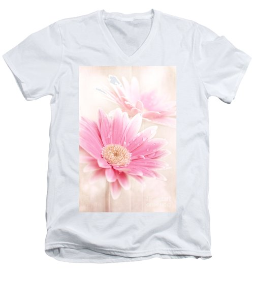 Raining Petals Men's V-Neck T-Shirt
