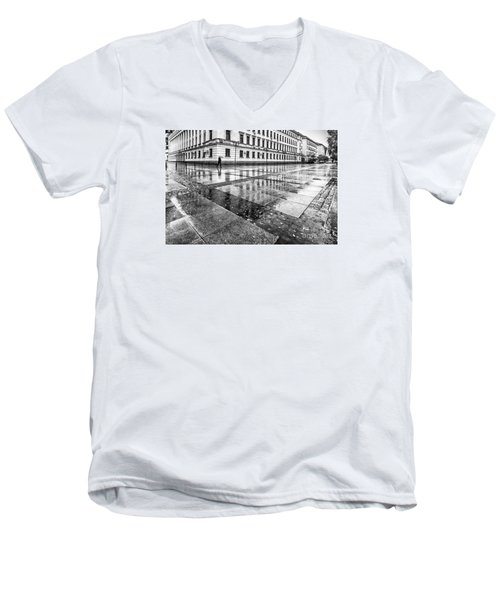 Men's V-Neck T-Shirt featuring the photograph Rainy Day by Jivko Nakev
