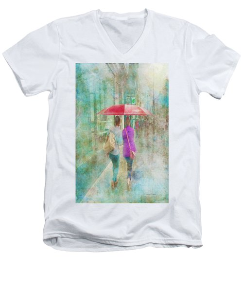 Rainy In Paris 1 Men's V-Neck T-Shirt