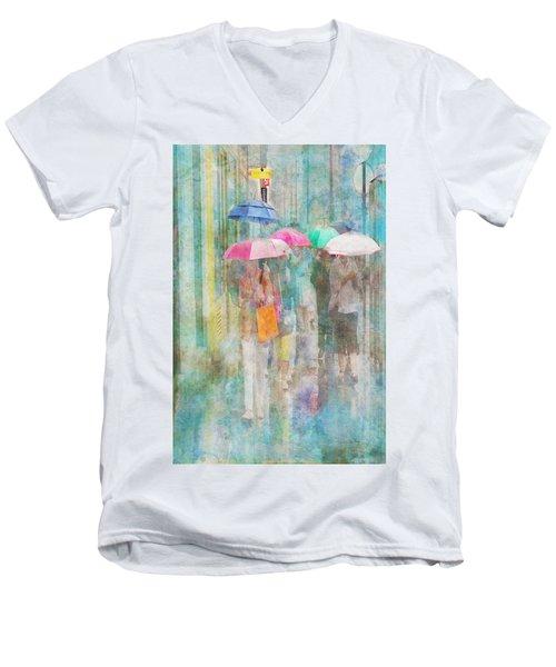 Rainy In Paris 2 Men's V-Neck T-Shirt