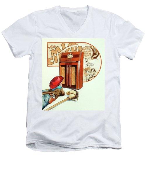 Raised On The Radio 2 Men's V-Neck T-Shirt