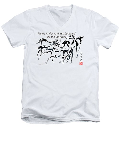 Rambunctious With Lao Tzu Quote I Men's V-Neck T-Shirt by Bill Searle