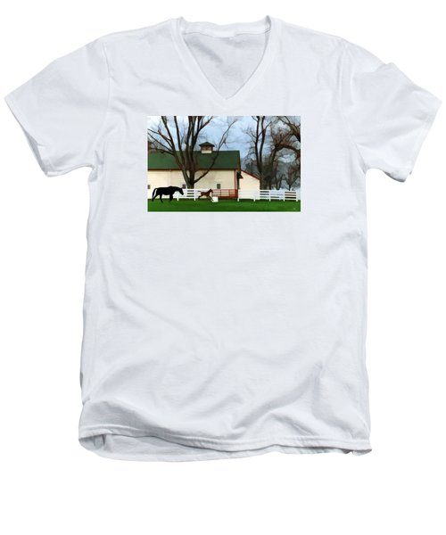 Ramsey Farm Men's V-Neck T-Shirt