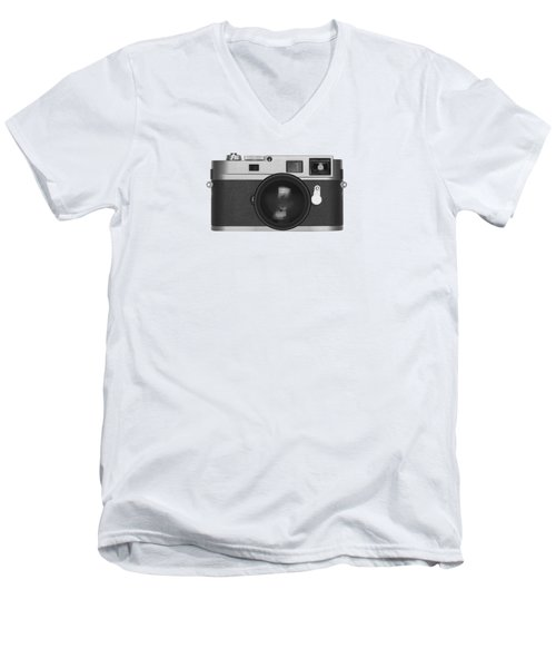 Men's V-Neck T-Shirt featuring the photograph Rangefinder Camera by Setsiri Silapasuwanchai