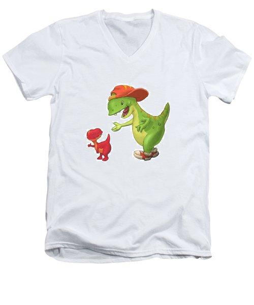 Rap-rap Raptor Men's V-Neck T-Shirt