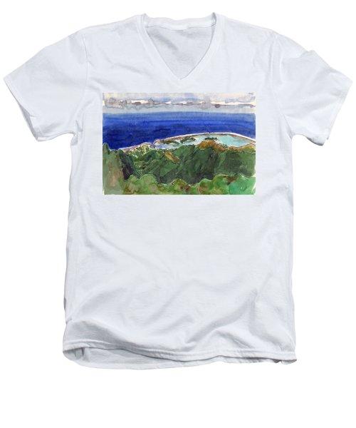 Rarotonga, View From Te Manga Men's V-Neck T-Shirt