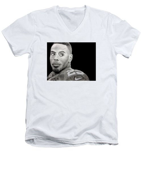 Rashad Jennings Drawing Men's V-Neck T-Shirt