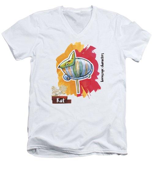 Rat Horoscope Men's V-Neck T-Shirt