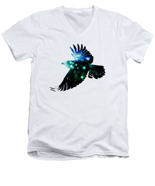 Raven Men's V-Neck T-Shirt by Anastasiya Malakhova