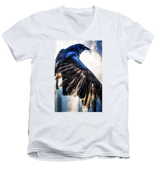Raven Attitude Men's V-Neck T-Shirt