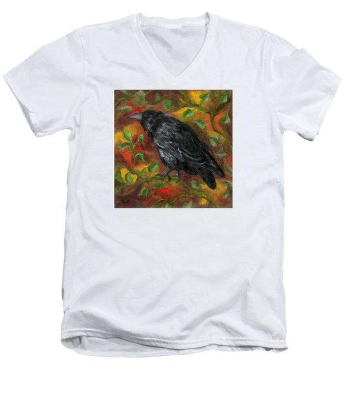 Raven In Autumn Men's V-Neck T-Shirt